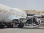 cornicheさんが、キング・ハーリド国際空港で撮影したサウジアラビア航空 747-468の航空フォト(飛行機 写真・画像)
