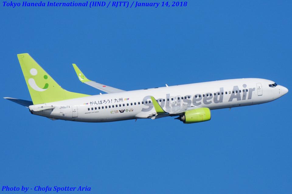 Chofu Spotter Ariaさんのソラシド エア Boeing 737-800 (JA807X) 航空フォト