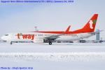 Chofu Spotter Ariaさんが、新千歳空港で撮影したティーウェイ航空 737-8Q8の航空フォト(飛行機 写真・画像)