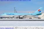 Chofu Spotter Ariaさんが、新千歳空港で撮影した大韓航空 747-4B5の航空フォト(写真)