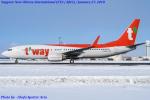 Chofu Spotter Ariaさんが、新千歳空港で撮影したティーウェイ航空 737-8KNの航空フォト(写真)