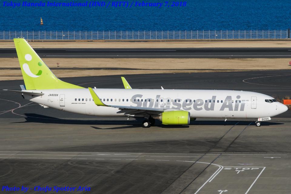 Chofu Spotter Ariaさんのソラシド エア Boeing 737-800 (JA809X) 航空フォト