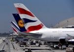 cornicheさんが、ロサンゼルス国際空港で撮影したブリティッシュ・エアウェイズ A380-841の航空フォト(飛行機 写真・画像)