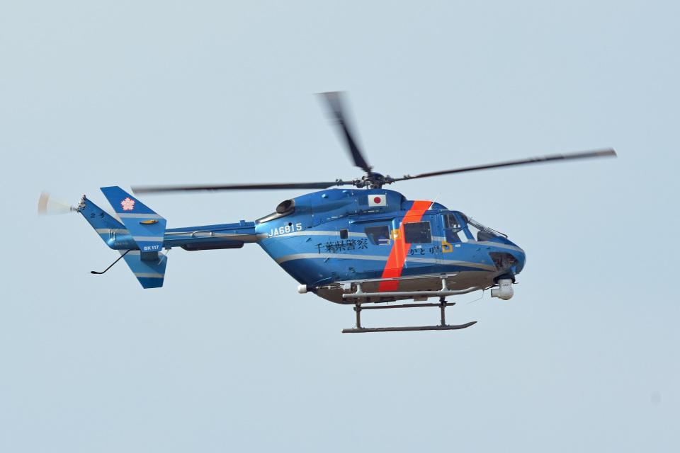tsubasa0624さんの千葉県警察 Kawasaki BK117 (JA6815) 航空フォト