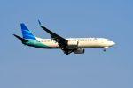 まいけるさんが、スワンナプーム国際空港で撮影したガルーダ・インドネシア航空 737-8U3の航空フォト(写真)