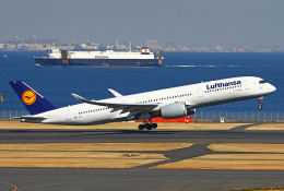 りんたろうさんが、羽田空港で撮影したルフトハンザドイツ航空 A350-941XWBの航空フォト(写真)