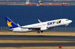 りんたろうさんが、羽田空港で撮影したスカイマーク 737-81Dの航空フォト(飛行機 写真・画像)