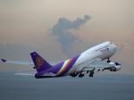 STAR TEAMさんが、中部国際空港で撮影したタイ国際航空 747-4D7の航空フォト(写真)