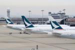 キイロイトリ1005fさんが、関西国際空港で撮影したキャセイパシフィック航空 777-367/ERの航空フォト(写真)