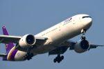 まいけるさんが、スワンナプーム国際空港で撮影したタイ国際航空 777-3D7/ERの航空フォト(写真)