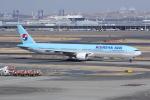 いっとくさんが、羽田空港で撮影した大韓航空 777-3B5の航空フォト(写真)