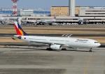 じーく。さんが、羽田空港で撮影したフィリピン航空 A330-343Xの航空フォト(飛行機 写真・画像)