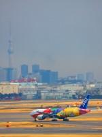 ひとつぼし / 航空YouTuberさんが、羽田空港で撮影した全日空 777-281/ERの航空フォト(飛行機 写真・画像)