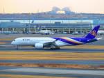 向かい風さんが、羽田空港で撮影したタイ国際航空 A350-941XWBの航空フォト(写真)