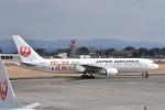 ワイエスさんが、鹿児島空港で撮影した日本航空 767-346/ERの航空フォト(写真)