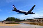 まいけるさんが、プーケット国際空港で撮影したアエロフロート・ロシア航空 777-3M0/ERの航空フォト(写真)