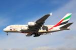 Koba UNITED®さんが、ロンドン・ヒースロー空港で撮影したエミレーツ航空 A380-861の航空フォト(写真)