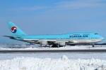 セブンさんが、新千歳空港で撮影した大韓航空 747-4B5の航空フォト(写真)