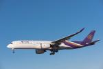 こむぎさんが、成田国際空港で撮影したタイ国際航空 A350-941XWBの航空フォト(写真)