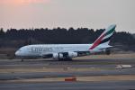 Cスマイルさんが、成田国際空港で撮影したエミレーツ航空 A380-861の航空フォト(写真)