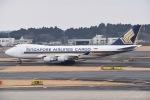 Yu-さんが、成田国際空港で撮影したシンガポール航空カーゴ 747-412F/SCDの航空フォト(写真)