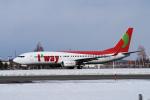 yabyanさんが、新千歳空港で撮影したティーウェイ航空 737-8GJの航空フォト(写真)