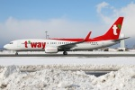 たみぃさんが、新千歳空港で撮影したティーウェイ航空 737-8ALの航空フォト(写真)