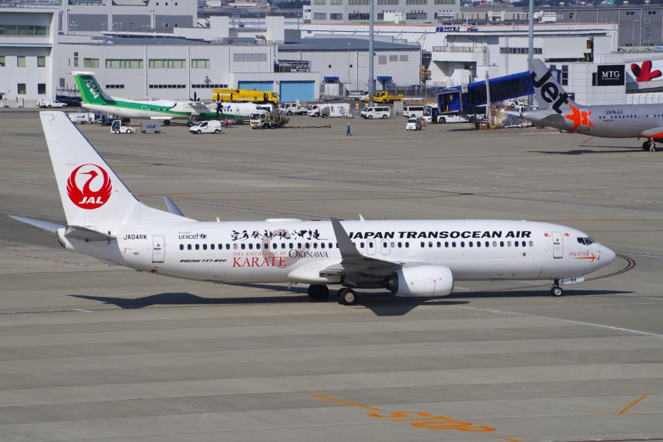 yabyanさんの日本トランスオーシャン航空 Boeing 737-800 (JA04RK) 航空フォト