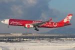 たみぃさんが、新千歳空港で撮影したエアアジア・エックス A330-343Xの航空フォト(写真)