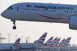 Double_Hさんが、ロンドン・ヒースロー空港で撮影したマレーシア航空 A350-941XWBの航空フォト(写真)