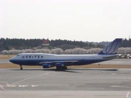 マスカットさんが、成田国際空港で撮影したユナイテッド航空 747-422の航空フォト(飛行機 写真・画像)