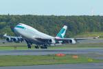 中村 昌寛さんが、新千歳空港で撮影したキャセイパシフィック航空 747-467の航空フォト(写真)