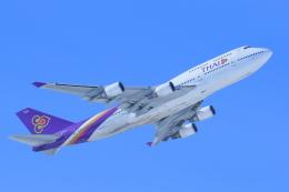 中村 昌寛さんが、新千歳空港で撮影したタイ国際航空 747-4D7の航空フォト(飛行機 写真・画像)