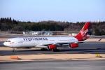 トロピカルさんが、成田国際空港で撮影したヴァージン・アトランティック航空 A340-313の航空フォト(写真)
