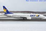 いおりさんが、新千歳空港で撮影したスカイマーク 737-8HXの航空フォト(写真)