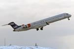 菊池 正人さんが、ベルゲン空港で撮影したスカンジナビア航空 CL-600-2D24 Regional Jet CRJ-900LRの航空フォト(写真)
