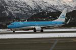 菊池 正人さんが、ベルゲン空港で撮影したKLMオランダ航空 737-8K2の航空フォト(写真)