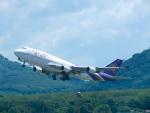 今ちゃんさんが、プーケット国際空港で撮影したタイ国際航空 747-4D7の航空フォト(写真)