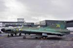 うめやしきさんが、ル・ブールジェ空港で撮影したスウェーデン空軍 J35A Drakenの航空フォト(飛行機 写真・画像)
