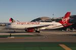 ゴンタさんが、ロサンゼルス国際空港で撮影したヴァージン・アメリカ A320-214の航空フォト(写真)