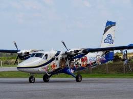 ふくそうじさんが、粟国空港で撮影した第一航空 DHC-6-400 Twin Otterの航空フォト(飛行機 写真・画像)