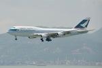 cornicheさんが、香港国際空港で撮影したキャセイパシフィック航空 747-412の航空フォト(飛行機 写真・画像)