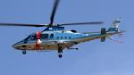 (ヘリの絵文字)おじさんが、名古屋飛行場で撮影した愛媛県警察 A109E Powerの航空フォト(写真)