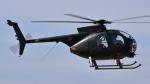 (ヘリの絵文字)じゃがおじさんが、名古屋飛行場で撮影した陸上自衛隊 OH-6Dの航空フォト(写真)