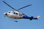 へりさんが、東京ヘリポートで撮影した福島県消防防災航空隊 412EPの航空フォト(写真)