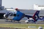 TUILANYAKSUさんが、東京ヘリポートで撮影した中日新聞社 EC135P2の航空フォト(写真)