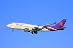 hidetsuguさんが、新千歳空港で撮影したタイ国際航空 747-4D7の航空フォト(写真)