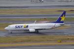 Parsleyさんが、羽田空港で撮影したスカイマーク 737-81Dの航空フォト(飛行機 写真・画像)