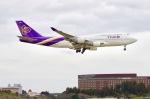 もりやんさんが、成田国際空港で撮影したタイ国際航空 747-4D7の航空フォト(写真)