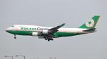 誘喜さんが、香港国際空港で撮影したエバー航空 747-45E(BDSF)の航空フォト(写真)